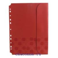 Папка конверт Concept на кнопке с перфорацией по длинной стороне А4 0,20 мм ассорти CON880